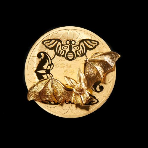2020년 수복강녕 입체형 기념메달 (금)